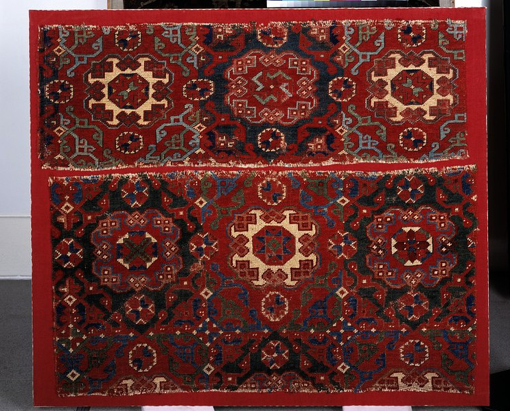 small pattern Holbein carpet fragment