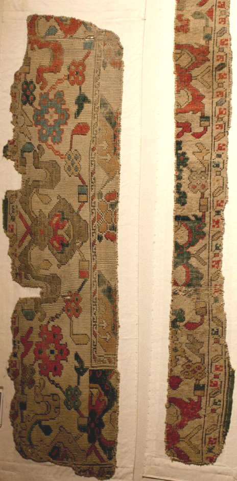 Ushak Bird Carpet fragment KonyaMuseum