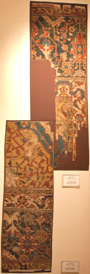 Persian carpet fragments