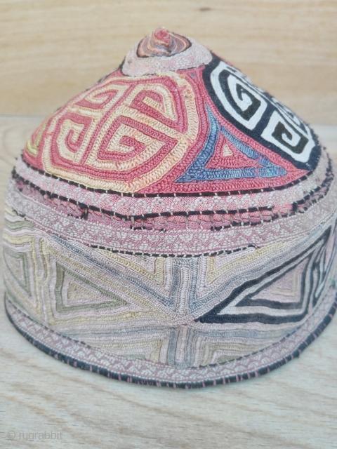 Türkmen hat 19th century silk embroidery