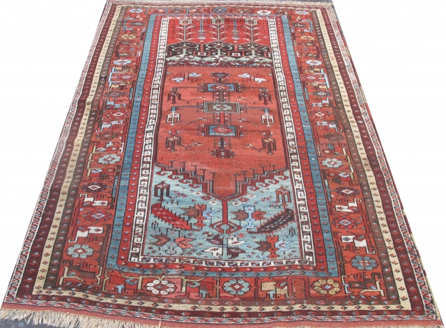 19th century Ladik Rug, 6ft x 4ft 2 inches (1.80m x 1.30), some old repairs. A noble rug, reasonably priced.