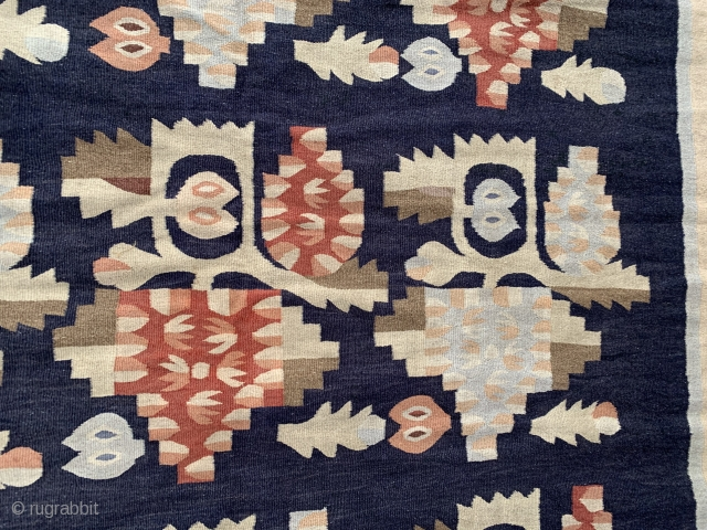 Exceptional Ukrainian Kilim, 11ft 6 inches x 6ft 10 inches,  (3.50m x 2.06m). Excellent condition. Lined