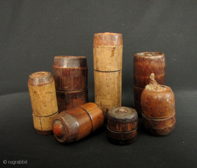 Khmu ensemble of bamboo boxes: