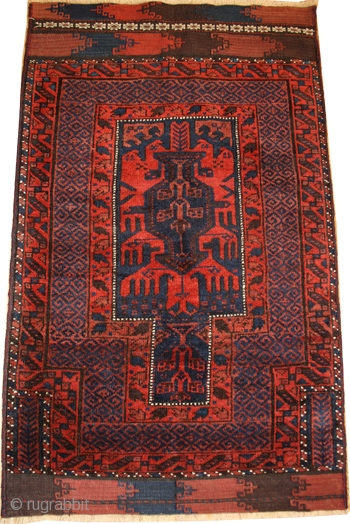 Smart, little Beludj Timuri prayer-rug with original kilims on both sides,