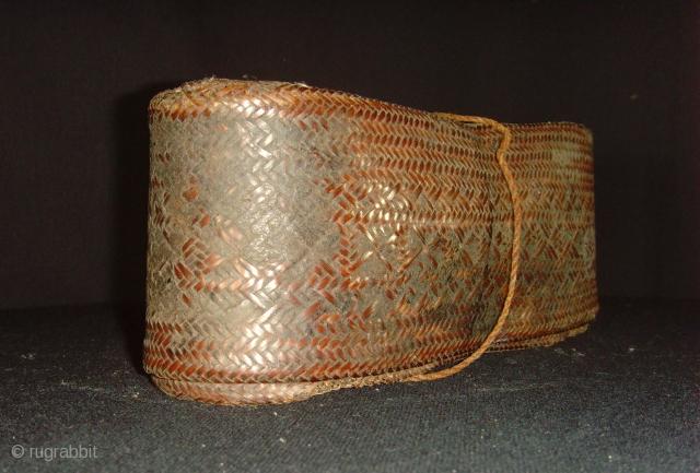 Fine antique hand wooven basket. Thailand