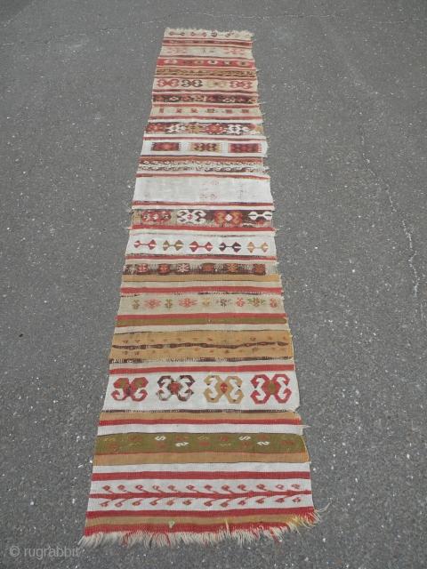 Antique Anatolian Kelim fragment 63x320 cm