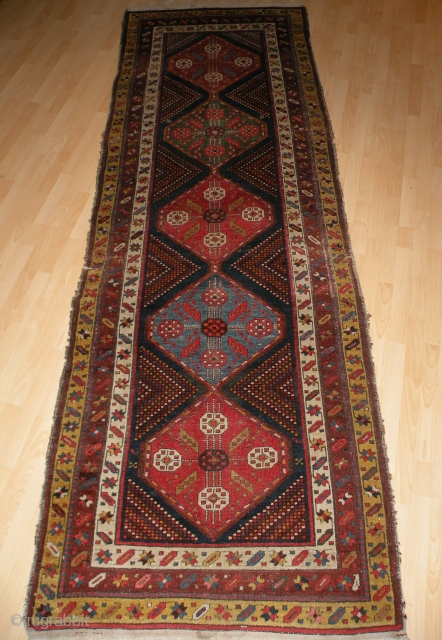 Antique nw persian or kurdish rug 111x320 cm