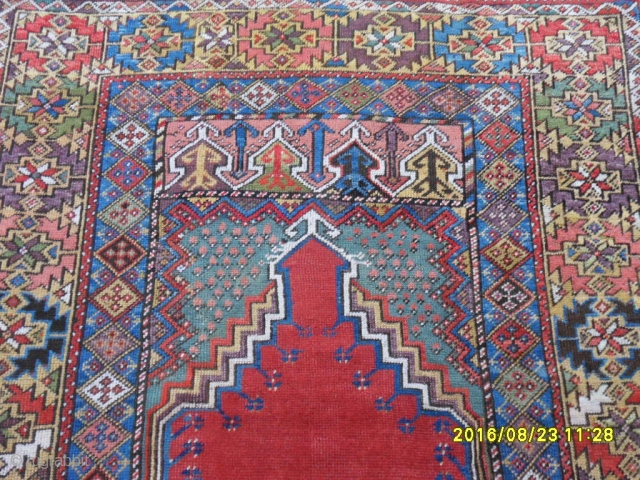Antique Anatolian Mucur Carpet Perfect Piece size: 158x120