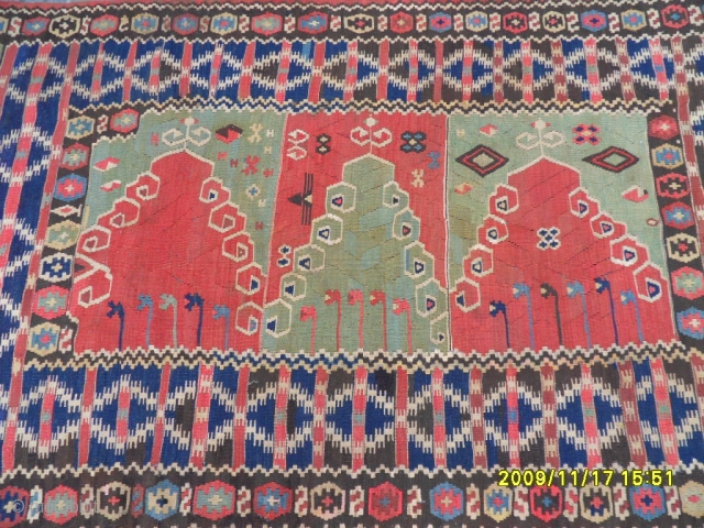 Antıque Anatolian Erzurum Saf Prayer Kilim size: 200x130