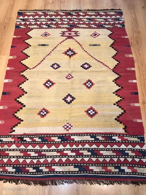 Antique Manastır Kilim Size 161x112