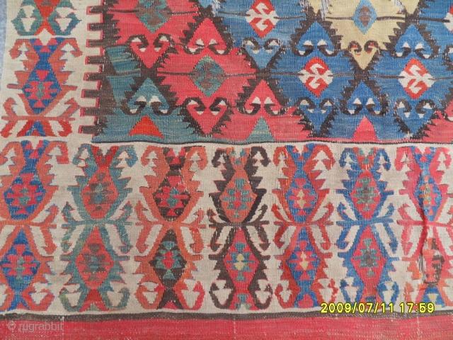 Antique Anatolian Elibelinde Kilim size:420x155 cm.