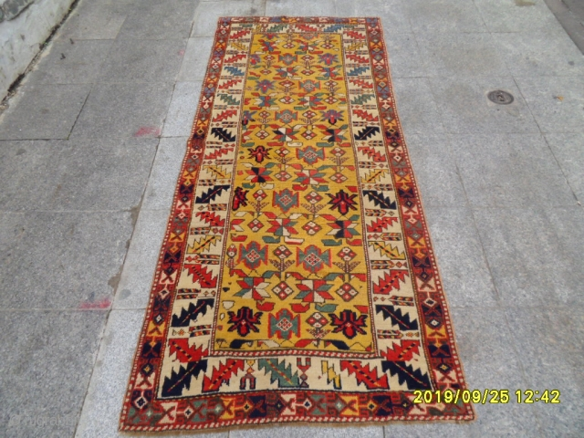 Antique Şahsavan carpet size: 215x90 cm.