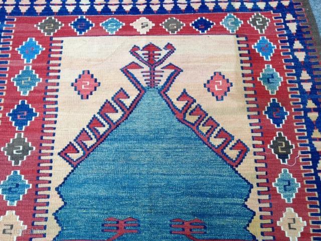 Anatolian Konya Obruk Kilim Size 186-126