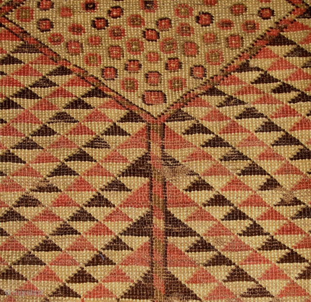 Very 'graphic' antique Ersari Ensi, 157 x 105 cm. (fragmented.