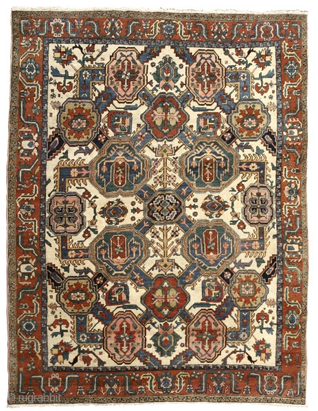 White Ground Carpet with Shield Palmettes