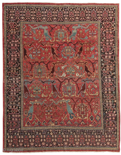 Carpet with animal and palmette pattern