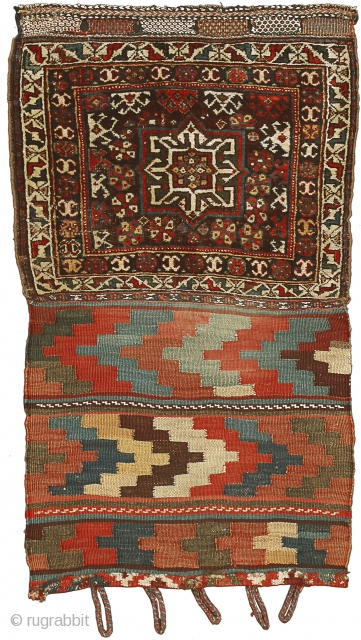 Featured in our web exhibition entitled 'Front/Back - A Collection of Exquisite Small Persian Tribal Weavings' visible at www.albertolevi.com , this open saddle bag is a glorious example from the Basseri tribe,  ...