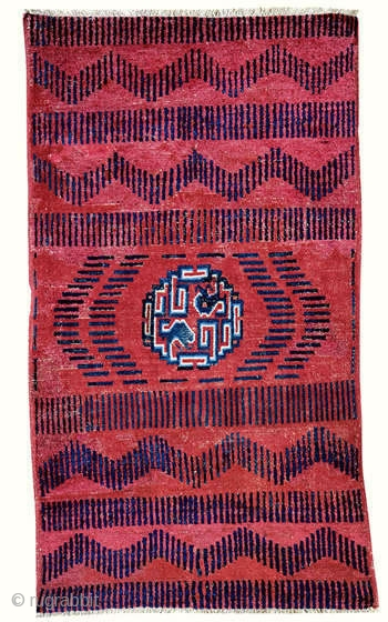 Rug with RKO pattern  Yarkand  Eastern Turkestan  Circa 1800  174 x 100 cm (5 feet 9 inches x 3 feet 3 inches)   See you soon at ARTS! http://artsrugshow.net/register-for-the-arts-opening/