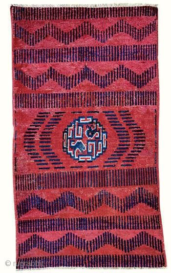 Rug with RKO pattern  Yarkand  Eastern Turkestan  Circa 1800  174 x 100 cm (5 feet 9 inches x 3 feet 3 inches)