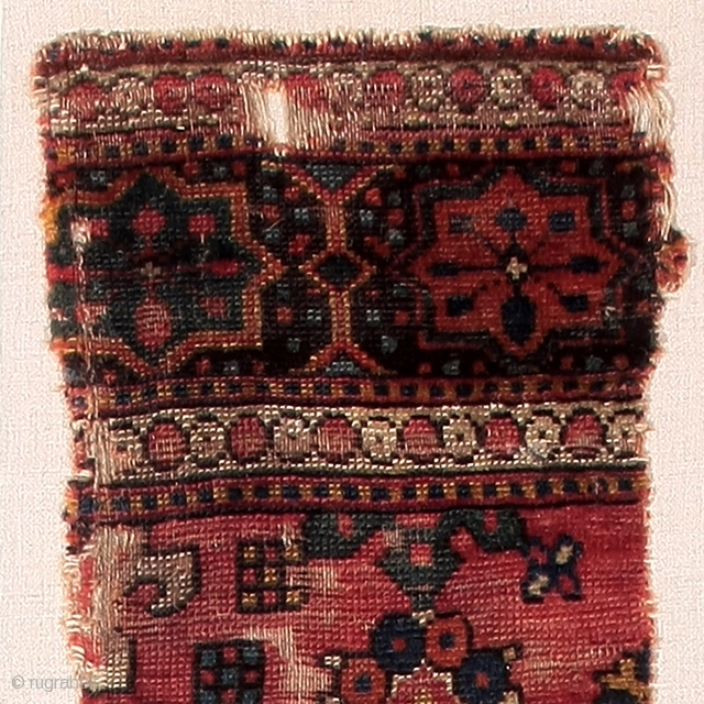 Detail of an early rug from the Golden Triangle, to be exhibited next week in San Francisco together with other rare and unusual rugs and fragments. See you in a few days! http://artsrugshow.net/register-for-the-arts-opening/