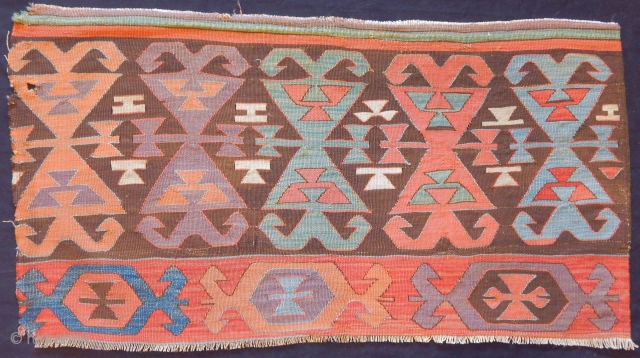Antique Anatolian Kilim Fragment Elem