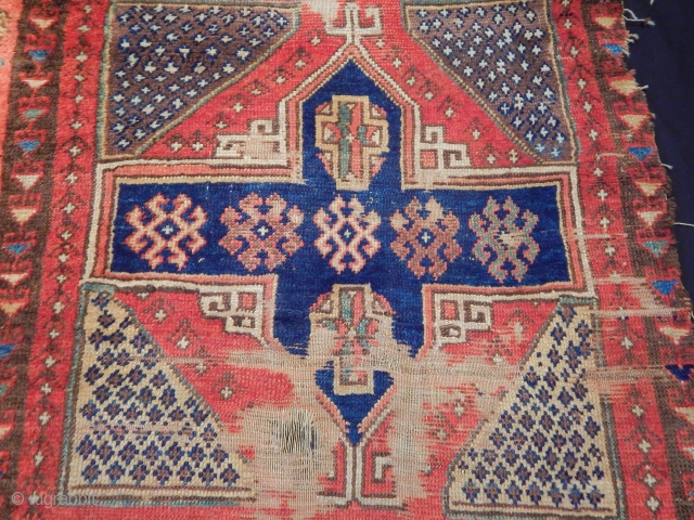 Antique East Anatolian Sivas Rug Fragment