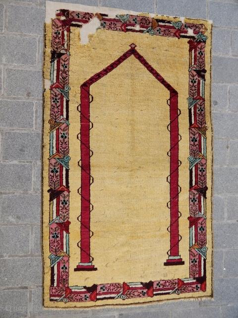Antique Anatolian Mucur Rug