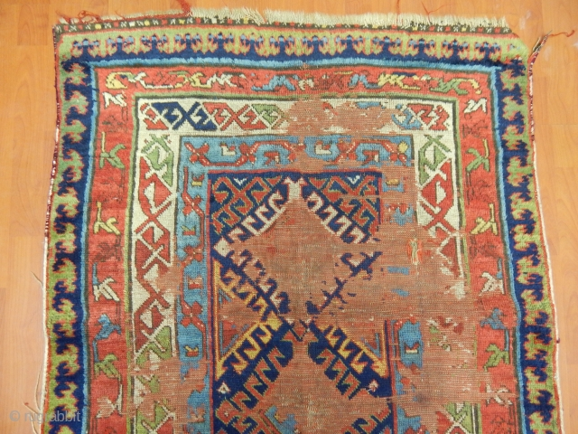Antique Gence Rug Fragment
