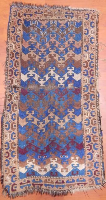 Antique East Anatolian Yörük Rug  Size.150x80cm