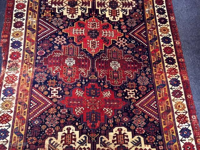 Antique Khamseh Rug