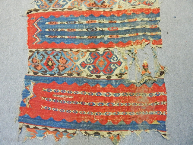 Antique Anatolian Kilim Fargment