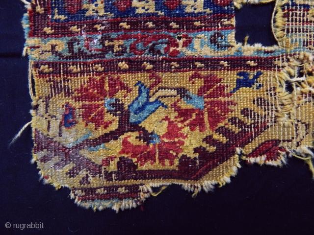 Antique West Anatolian Kula Rug Fragment Mid 17th Century