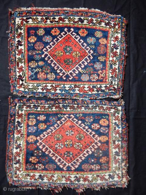 Antique Qashqaii Bagfaces