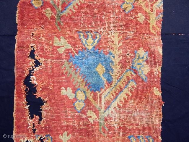 Antique West Anatolian Ushak Rug Fragment  size.160x70cm