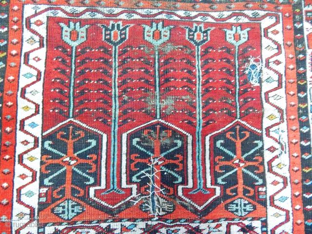 Antique Anatolian Konya Ladik Prayer Rug