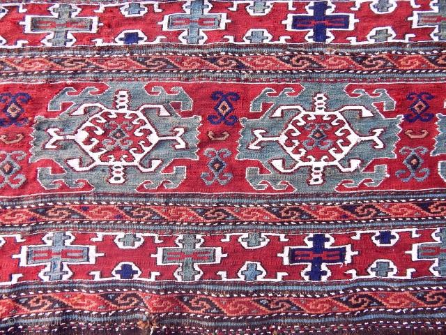 Antique Shsahsavan Sumak Panel  size.50x106 cm