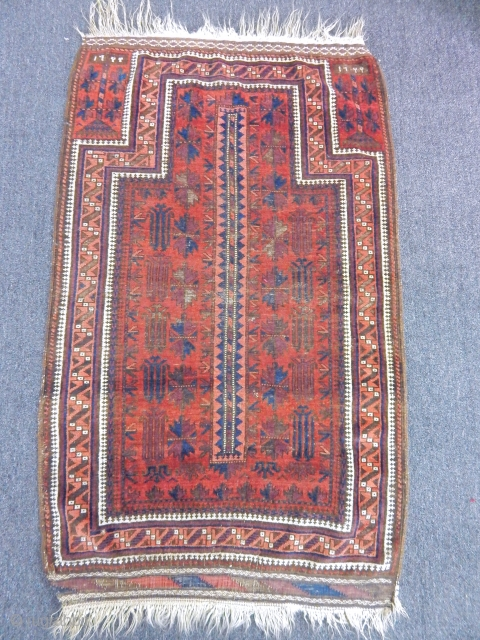 Antique Timuri Baluch Prayer  Rug