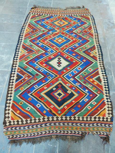 Antique Qashqaii Siraz Kilim