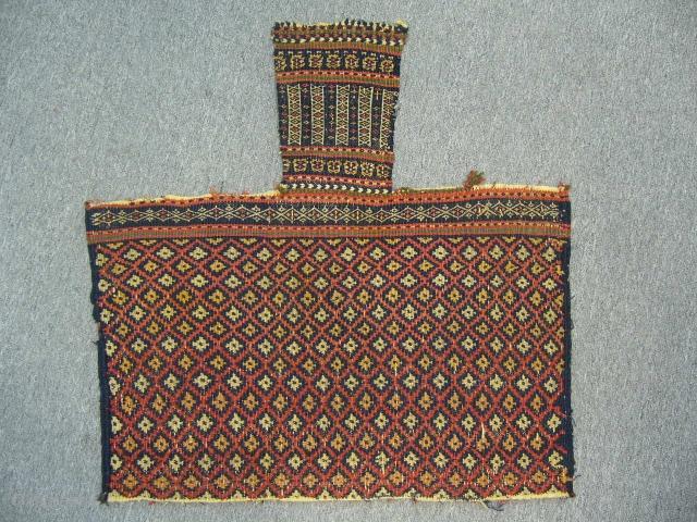 Antique Qashqaii Saltbag Face