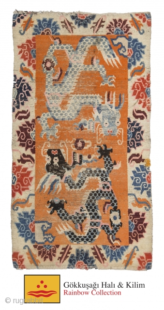 Tibetian Dragon carpet 86 cm x 155 cm
