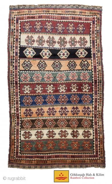 antique qashgai rug 120 cm x 195cm
