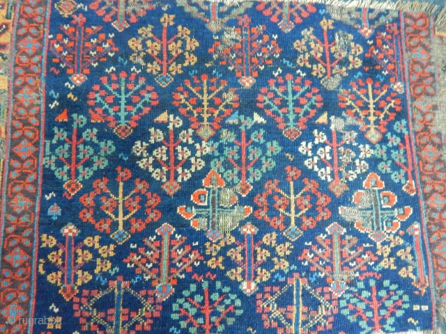 Antique Saugbulag Carpet Fragment
