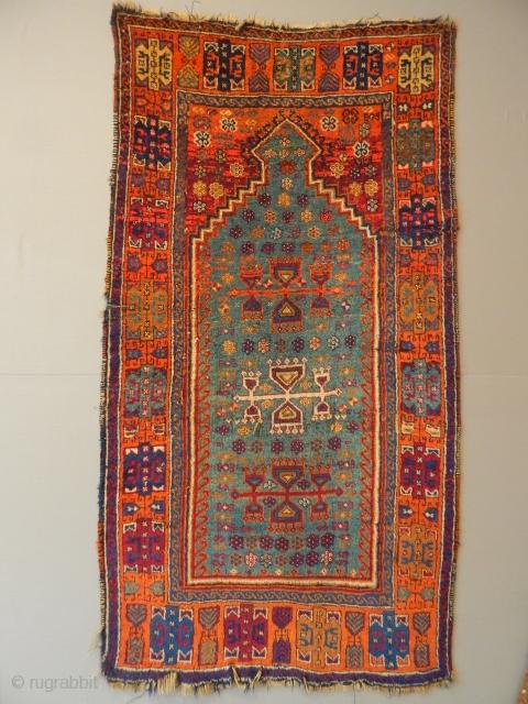 Old East Anatolian Prayer Carpet size.160x86cm