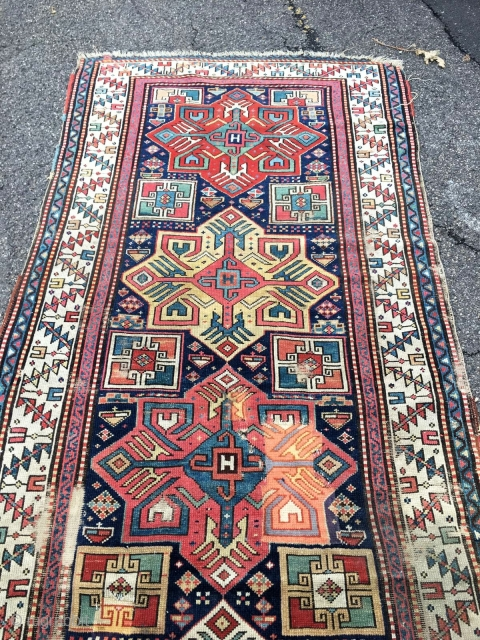 Old Caucasian Gence Rug
