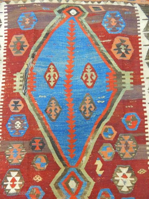 Central Anatolian Konya Obruk Kilim  size.430x140cm