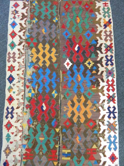 Anatolian Kilim Fragment size.220x90cm