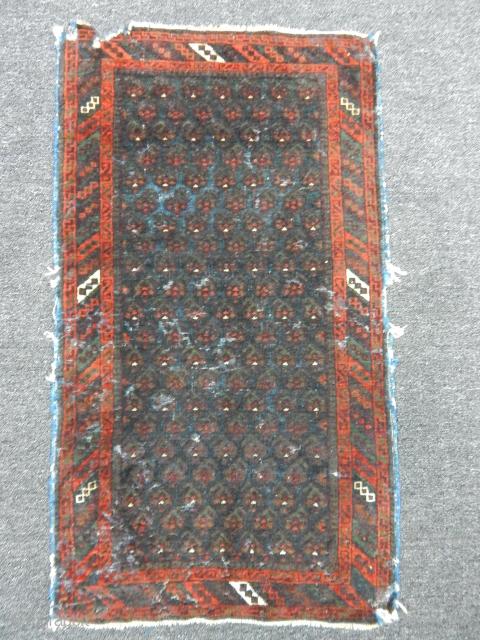 Old Baluch Balisht Carpet size.90x50cm
