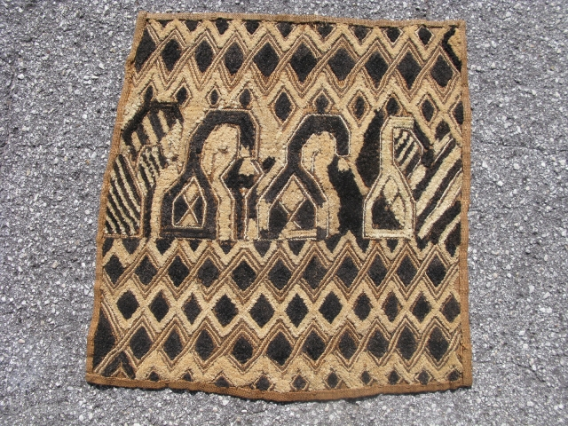 New shipment, $69.00 each, African Kuba raffia cloth, a large wrap around dress, hand woven palm fiber, an applique central field with a border of cut-loop pile embroidery and flat stitch embroidery,  ...