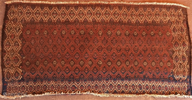 A beautifull Antique weft-float panel from eadt Persia. Size : ''140cm x 70cm'' Thank you for visiting my rugrabbit store !