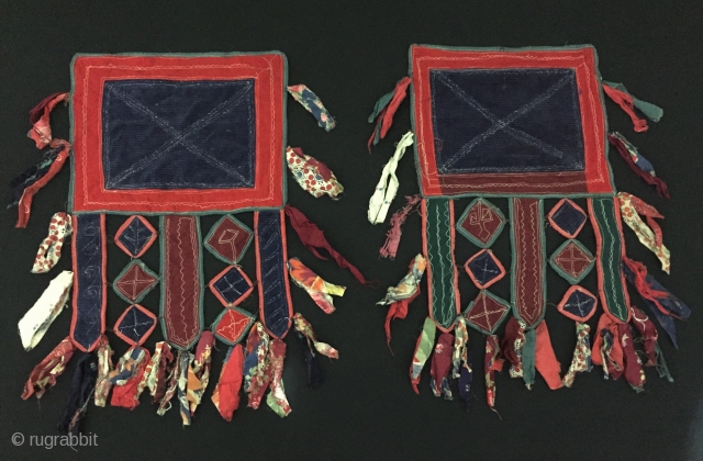Central-Asia A pair of Turkmen Velvet and Cotton Wall Hanging Fine condition ! Circa - 1920 - 40 Size - Height : 53 cm - Width : 32 cm Thank you for  ...